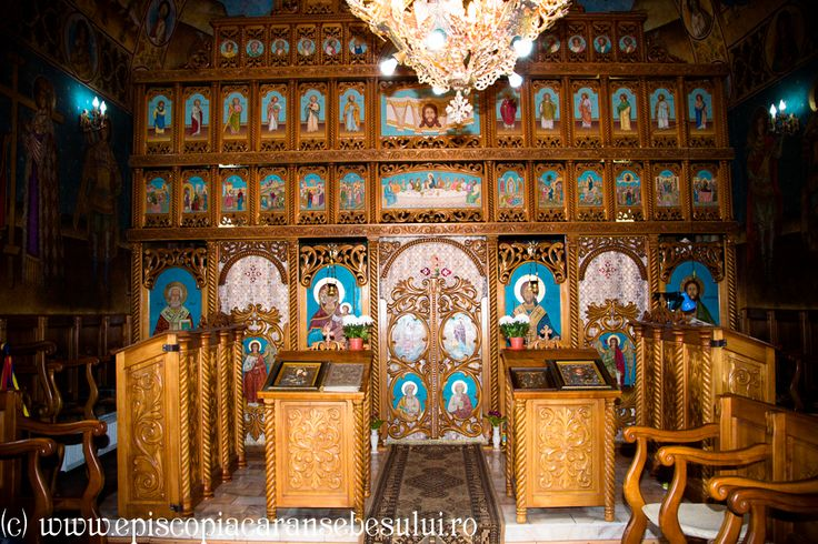 "Romanian Orthodox Church ""Saint Demetrius, the Great Martyr"" from Bucova, Caraș-Severin County, Romania The Church was built in 1857. Romanian Orthodox Diocese of Caransebeș."