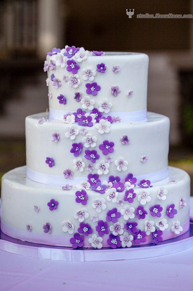 Little Purple Flowers Wedding Cake StudiosMeewMeew Hawaii