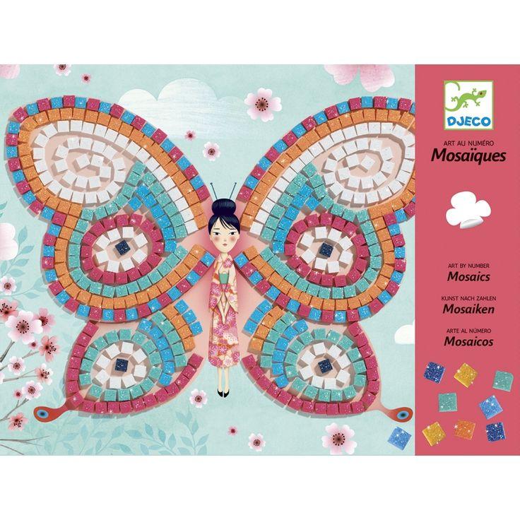 Csillogó pillangók mozaik Djeco kreatív készlet