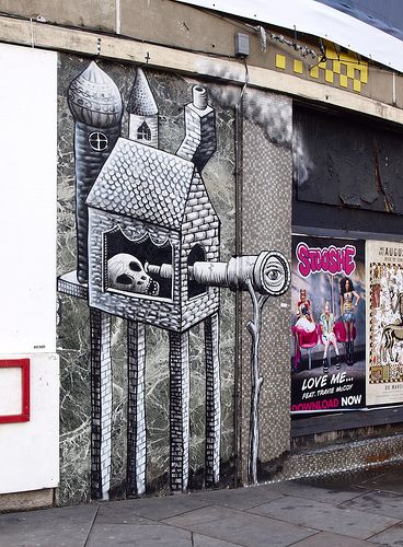 Best Phlegm Images On Pinterest Urban Art Street Artists - Awesome mechanical shark mural phlegm