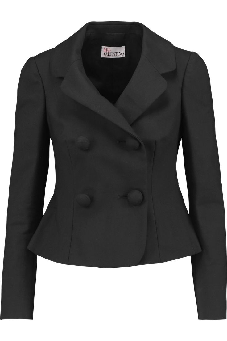 Shop on-sale REDValentino Bow-embellished stretch-cotton crepe jacket . Browse other discount designer Jackets & more on The Most Fashionable Fashion Outlet, THE OUTNET.COM