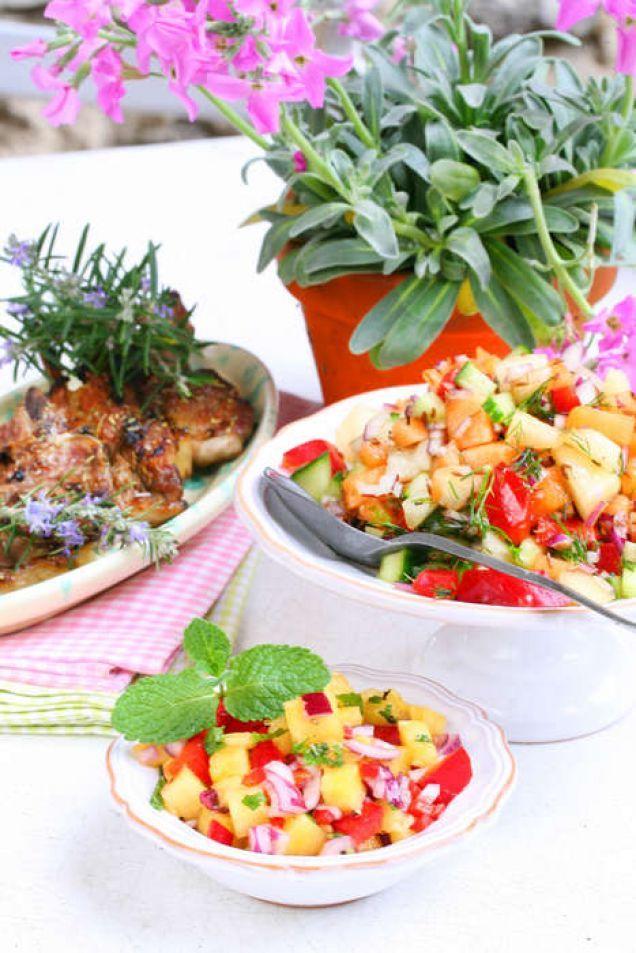 Salsa med ananas och melon