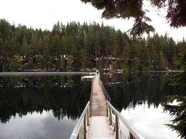 Sasamat Lake. Near Belcarra 3 hour long trail loop