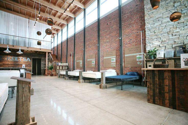 Berkeley Keetsa Eco-Friendly Matress Store - Interior with wood counter cash wrap