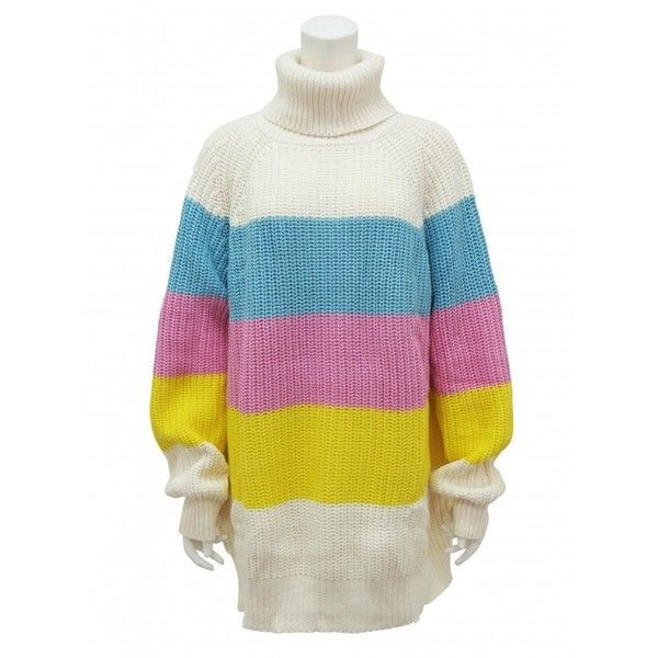 『LAZY OAF』SORBET SWEATER (165 CAD) ❤ liked on Polyvore featuring tops, sweaters, white top and white sweater