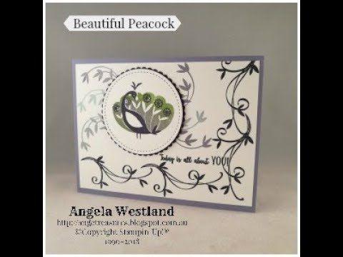 Beautiful Peacock Simply Stamping