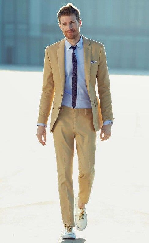 Khaki Summer Suit   My Dress Tip