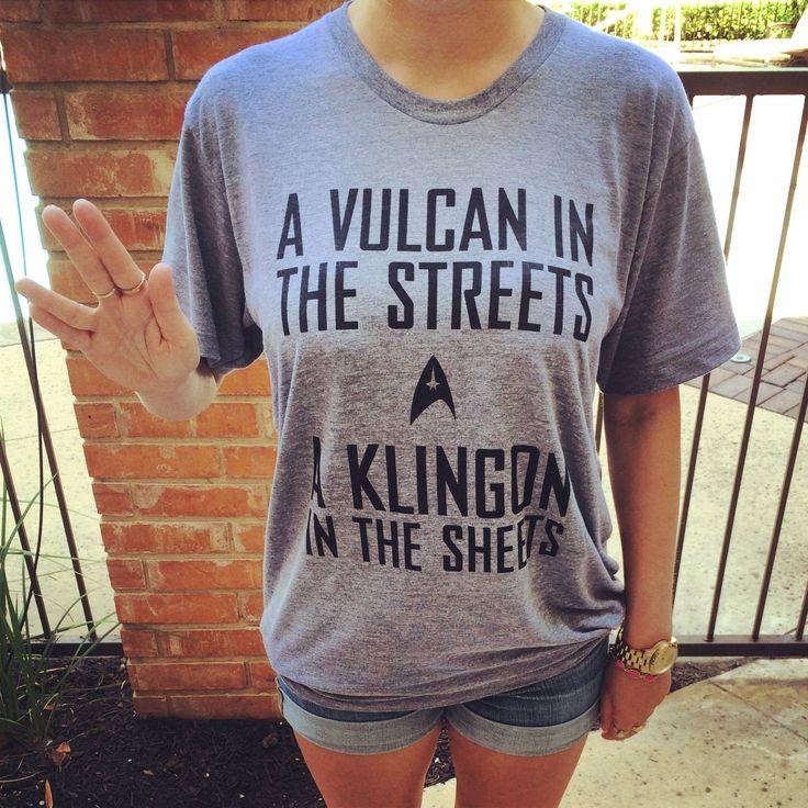 Sexy Trek t-shirt.