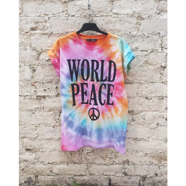 AbiDashery Hippie Tie Dye Festival Shirt Rainbow World Peace Tumblr... ($32) ❤ liked on Polyvore featuring tops, t-shirts, black, women's clothing, tie dyed t shirts, black tie dye shirt, tie dye t shirts, tye dye t shirts and peace t shirt