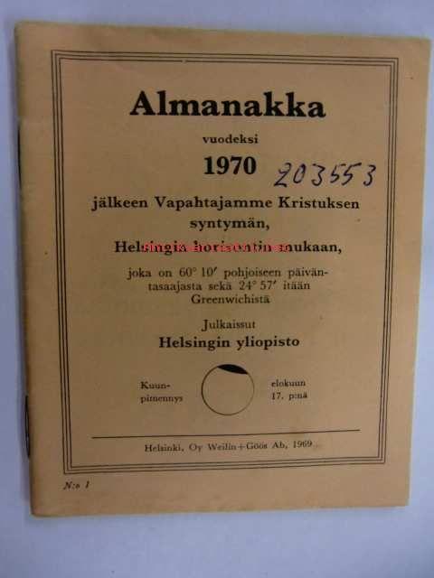 Almanakka 1970, Helsingin yliopisto
