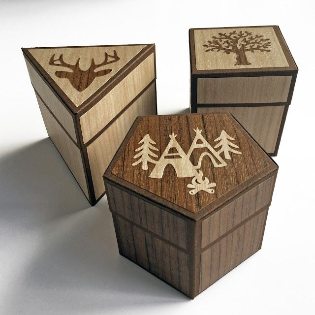 Little Wooden Boxes Using New Silhouette Wood Effect Vinyl Wood Boxes Wooden Boxes Wood