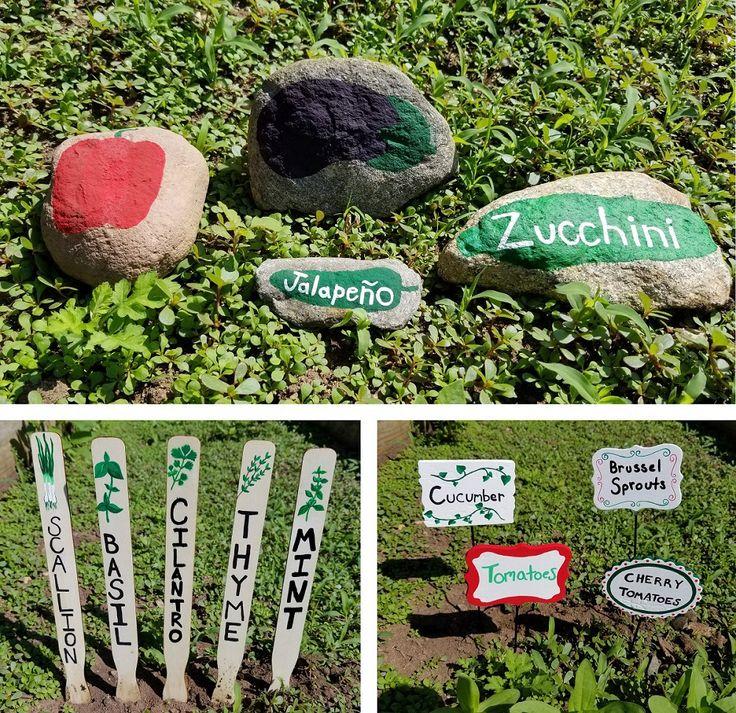 Affordable Backyard Vegetable Garden Designs Ideas 55: 3 Crafty Ways To Label Your Vegetable Garden