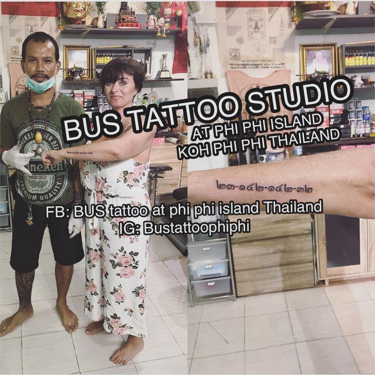 #thainumber #tattooart #tattooartist #bambootattoothailand ...