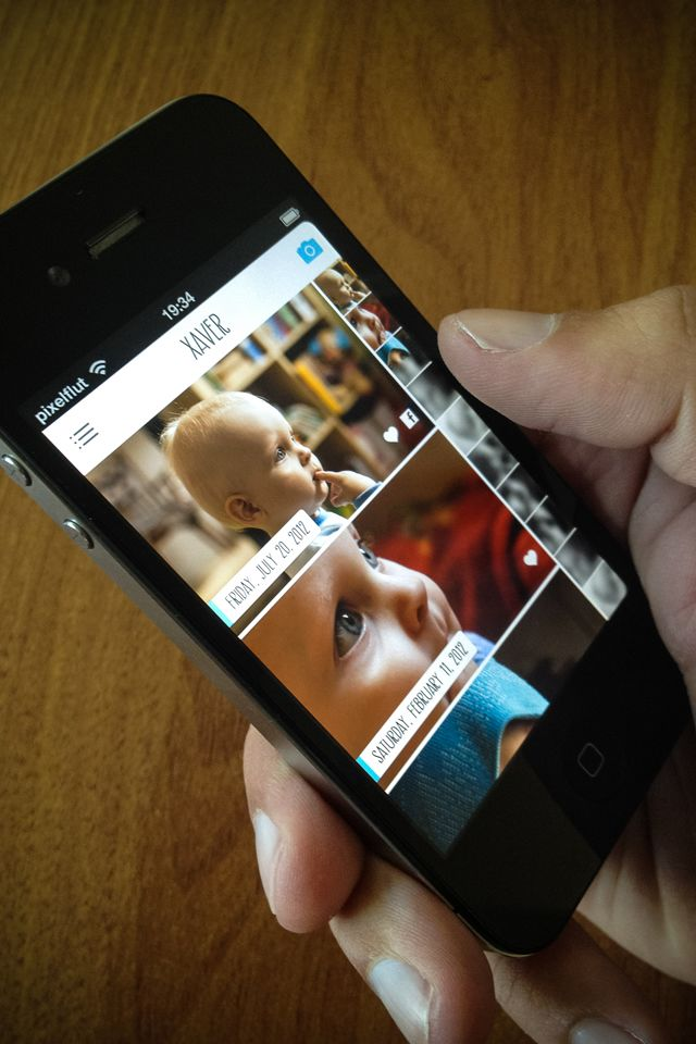 nice photostream with big bright images and swipeable gallery