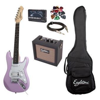 Guitares enfants EAGLETONE PACK SUN STATE MINI ROSE + BUDDY Guitares électriques