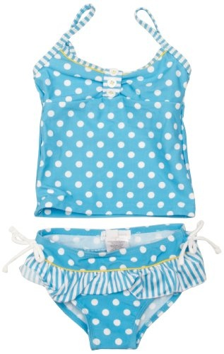Buy New: £17.00 (Available In The UK & Ireland): Apparel: Pumpkin Patch Striped Spotted Tankini Set Girl's Swimsuit