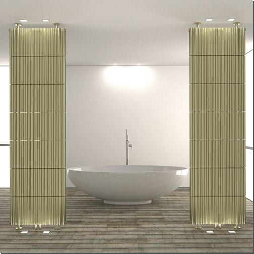Like it's sister product the Bamboo, the Bamboo Evolution is also inspired by a tropical forest of slender bamboo shoots. The new radiator, with its front and rear curves and floor to ceiling mounting system, becomes a elegant and modern room divider.