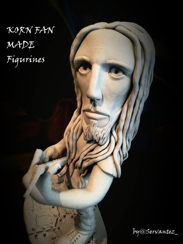 KORN FAN MADE FIGURINES - BRIAN HEAD WELCH #korn20 #kornfamily #Korn #kornart #justcallmehorse #brianheadwelch #head #munkykorn #jdevil33 #jonathandavis #rayluzier #fieldykorn  #kornfigurines #figurine #sculpture #supersculpey @jonathandavis @rayluzier @fieldykorn @brianheadwelch @munkykorn @justcallmehorse @korn_official