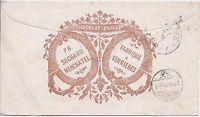 Switzerland 1870 uprated 10c stationery Suchard Chocolate advert
