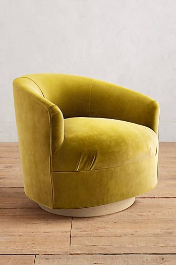 Velvet Amoret Swivel Chair