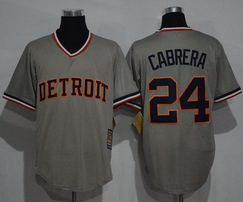 7e0f1ae63 ... Tigers 24 Miguel Cabrera Grey Cooperstown Throwback Stitched MLB Jersey.  Detroit .