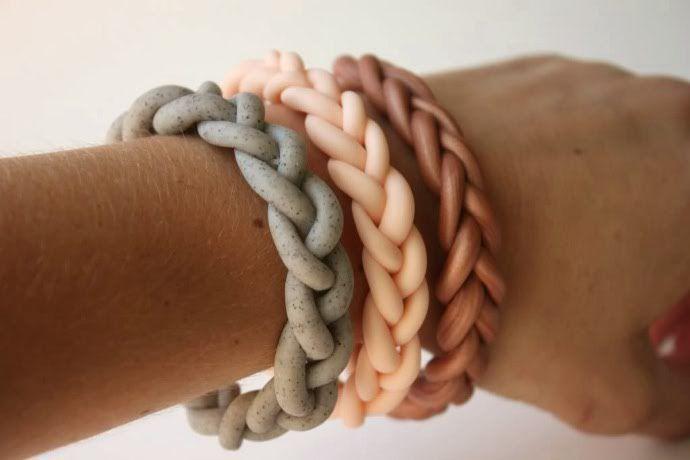 Tutorial brazaletes DIY de colores hechos con arcilla polimérica, FIMO o sculpey