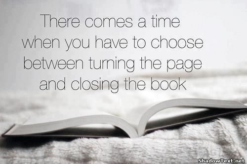 turn the page or close the book quote