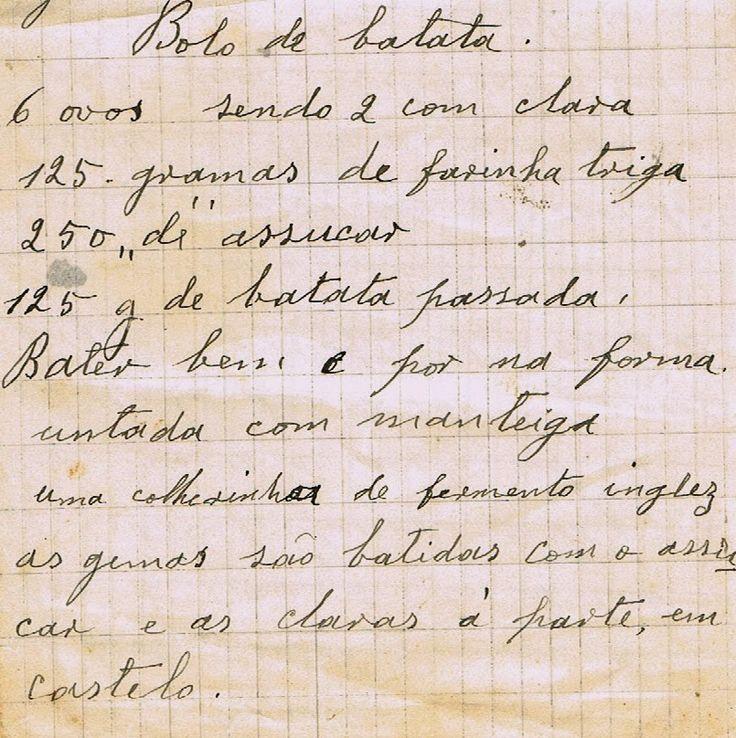 Bolo de Batata  As Receitas da Avó Helena e da Avó Eduarda