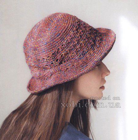 женская шляпка крючком со схемами