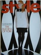 Style magazine - Sarah Ferguson - The Duchess of York cover (31 August 2003)