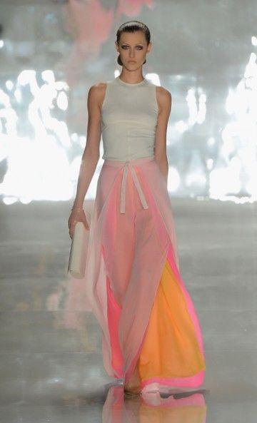 pretty floral-colored skirt       by CHADO RALPH RUCCI  Mercedes-Benz Fashion Week  via Blond Martini