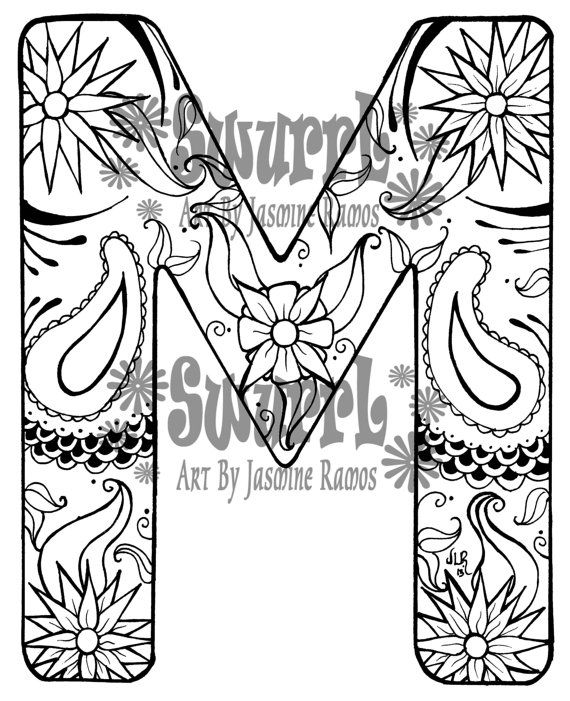 Letter M Coloring Page. alphabet m coloring page. top 10 free ...