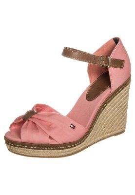Tommy Hilfiger EMERY - Wedge sandals - burnt red