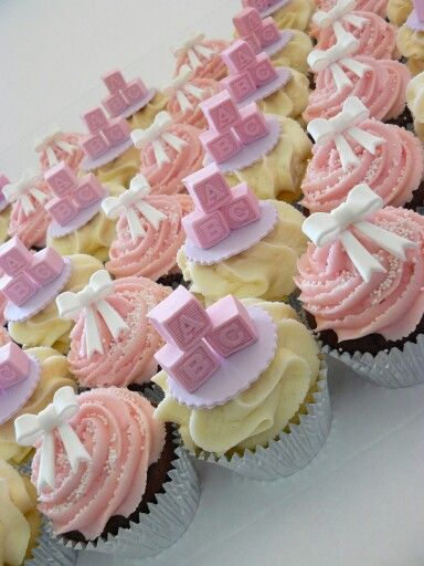 ABC Baby Shower Cupcakes