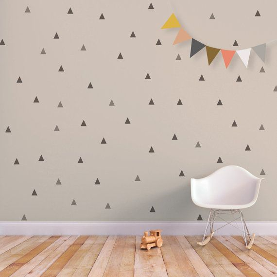 The Little Peaks wall decal is a great way to decorate any space. This design is the perfect addition to the modern nursery or kid's room.