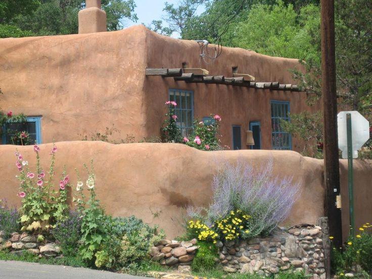 130 best adobe houses images on pinterest cob houses for Santa fe adobe homes