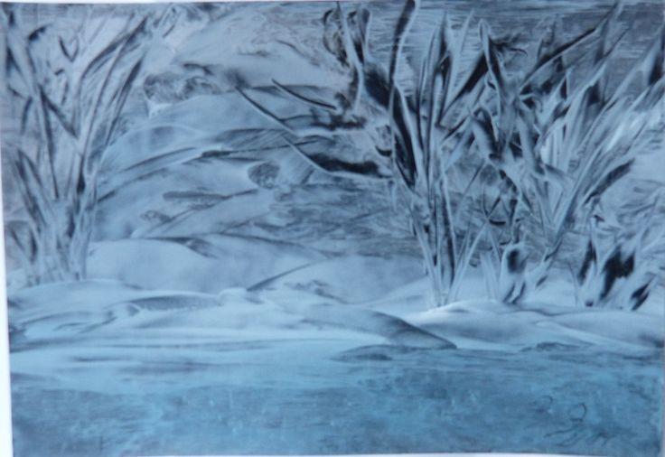 """Vielleicht ein Weihnachtsgeschenk? """"Winternacht"""" von Atelier """"Malen am Wald"""" auf DaWanda.com"""
