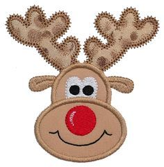 Free Applique Templates | GG Designs Embroidery - Reindeer Applique (Powered by CubeCart)