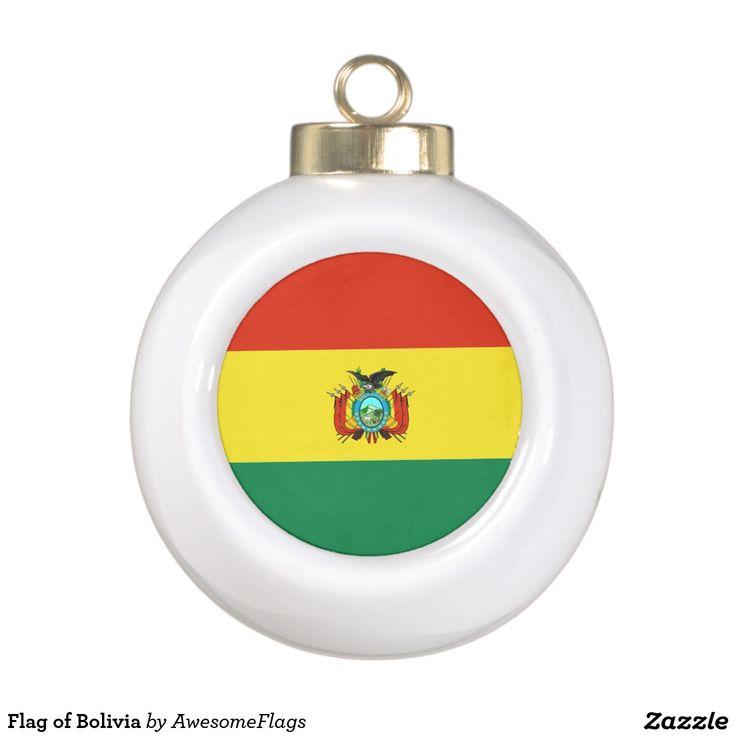 Flag of Bolivia Ceramic Ball Decoration