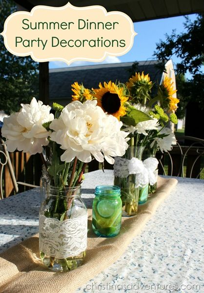 Summer dinner party using the David Tutera Casual Elegance Collection of DIY bridal and wedding decor, crafts and accessories #DTCasualElegance