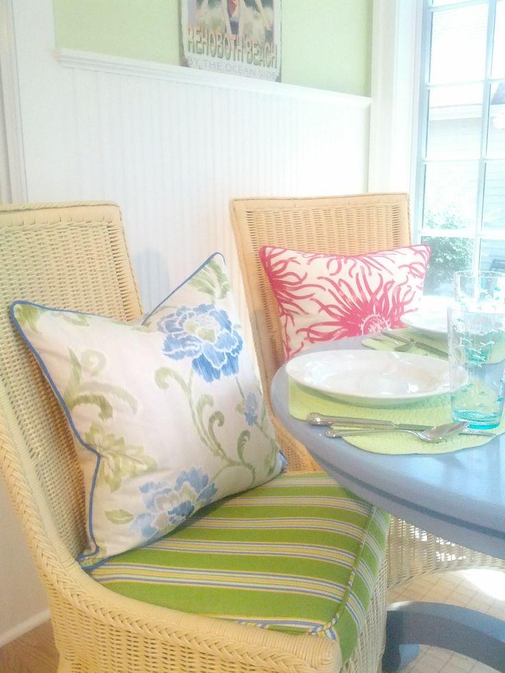 Sunday Morning Brunch On The Porch  Mix Of Coastal Pillows   Beach Pillows