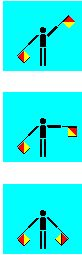 Semaphore flag signalling used back in the 1790's and used in Seafaring and also on the battlefields