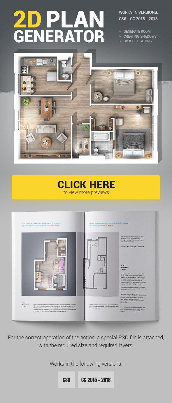 2d Plan Generator Photoshop Action Photoshop Actions Photoshop Interior Design Plan