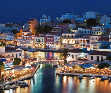 This is AGHIOS NIKOLAOS. (St. Nick) in Crete, Greece....so pretty during the day and prettier at night. We loved it there.