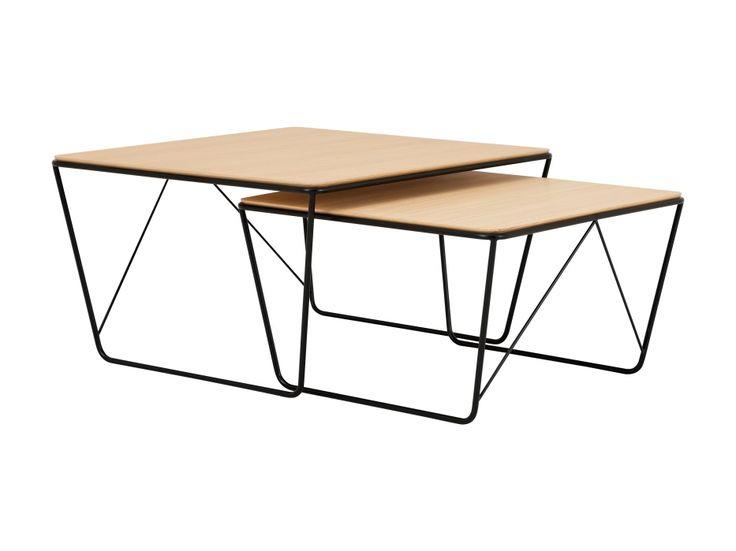HAMMOND Satsbord Svart/Ek i gruppen Inomhus / Bord / Sidobord hos Furniturebox (100-78-105741)