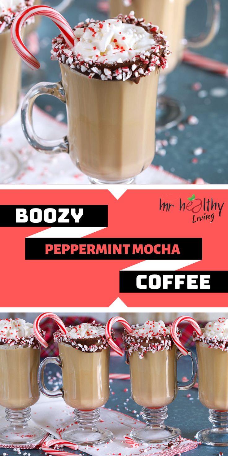 BOOZY PEPPERMINT MOCHA COFFEE Peppermint mocha, Homemade