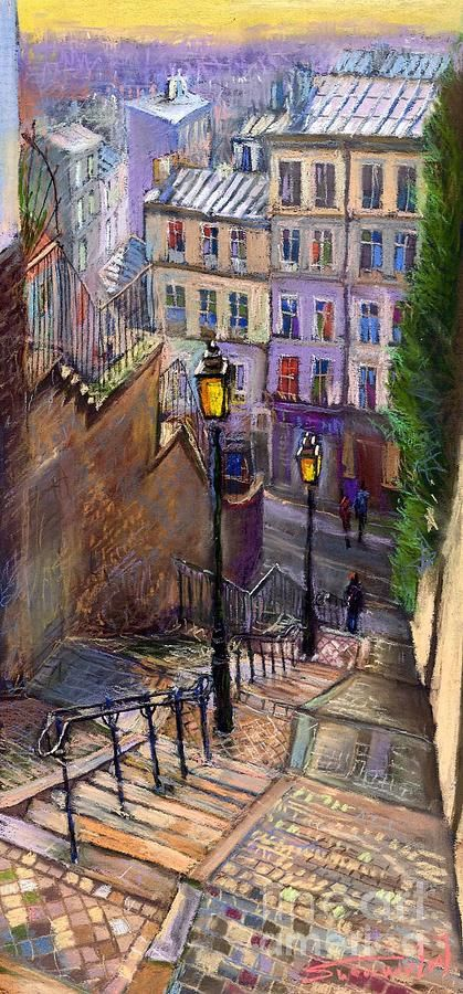 Paris montmartre painting yuriy shevchuk simple - Chaise montmartre ...
