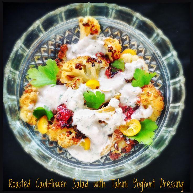Roasted Cauliflower and Tahini Yoghurt Sauce