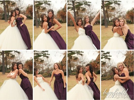 Take a picture with each of the bridesmaids, let them choose the pose. Send each girl a thank you note with your picture together. I love this idea