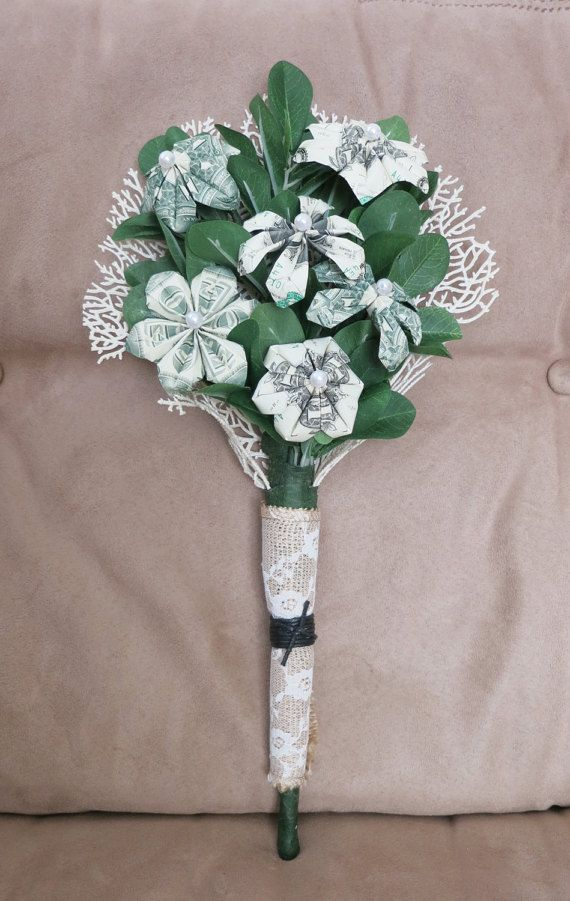 Money bouquet one dollar bills  perfect for by bydezign on Etsy